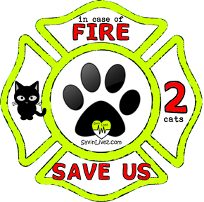 reflective 2 cats rescue decal, 2 cats alert, save my pets, 2 cats alert sticker, 2 cats window sticker, 2 cats inside, 2 cats emergency decal, 2 cats inside decal, 2 cats finder, 2 cats rescue alert decal, firefighter decal, refelctive decal, reflective sticker, in case of fire, firefighter decal, fire department
