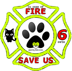 reflective 6 cats rescue decal, 6 cats alert, save my pets, 6 cats alert sticker, 6 cats window sticker, 6 cats inside, 6 cats emergency decal, 6 cats inside decal, 6 cats finder, 6 cats rescue alert decal, firefighter decal, refelctive decal, reflective sticker, in case of fire, firefighter decal, fire department