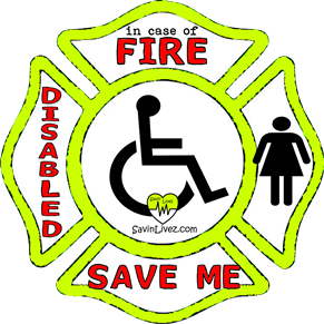 reflective disabled female rescue decal, disabled female alert, save disabled female, disabled female alert sticker, disabled female window sticker, disabled female inside, disabled female emergency decal, disabled female inside decal, disabled female finder, disabled female rescue alert decal, firefighter decal, refelctive decal, reflective sticker, in case of fire, firefighter decal, fire department